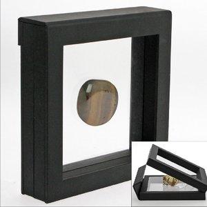 3-D-Schweberahmen schwarz, 13 cm