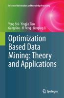 Optimization Based Data Mining: Theory and Applications - zum Schließen ins Bild klicken