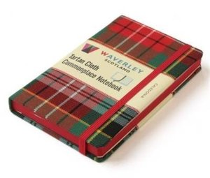 Waverley Scotland Large Tartan Cloth Commonplace Notebook - Cale