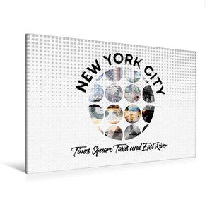Premium Textil-Leinwand 120 cm x 80 cm quer Graphic-Art NEW YORK