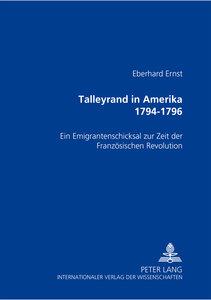 Talleyrand in Amerika 1794-1796