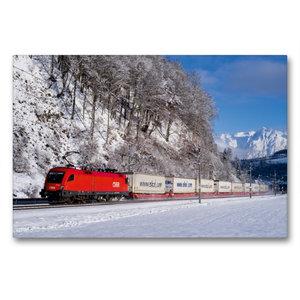 Premium Textil-Leinwand 90 cm x 60 cm quer EKOL-KLV im Schnee