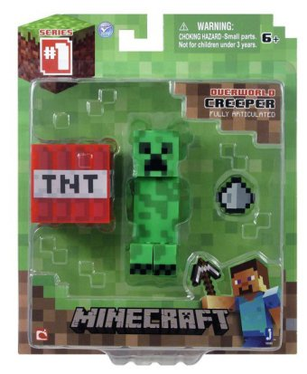 Minecraft 16503 - Core Creeper, Spielfigur mit Zubehör , 7 cm - zum Schließen ins Bild klicken