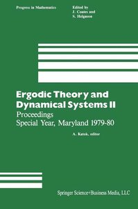 Ergodic Theory and Dynamical Systems II