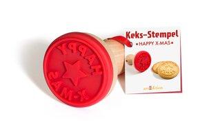 Keks-Stempel \'Happy X-Mas\'