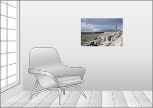 Premium Textil-Leinwand 75 cm x 50 cm quer Sassnitz - Hafen