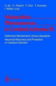 Maturation Phenomenon in Cerebral Ischemia III