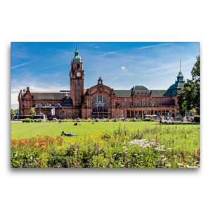 Premium Textil-Leinwand 75 cm x 50 cm quer Wiesbaden