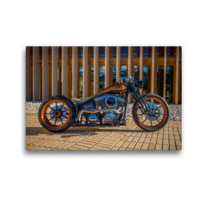 Premium Textil-Leinwand 45 cm x 30 cm quer HD 1800 ccm Black Pea