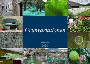 Grünvariationen (Wandkalender 2020 DIN A3 quer)