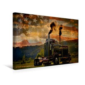 Premium Textil-Leinwand 45 cm x 30 cm quer Kenworth W900A Baujah