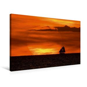 Premium Textil-Leinwand 75 cm x 50 cm quer Sonnenuntergang an de