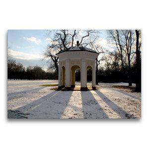 Premium Textil-Leinwand 75 cm x 50 cm quer Tempel im Clara-Zetki