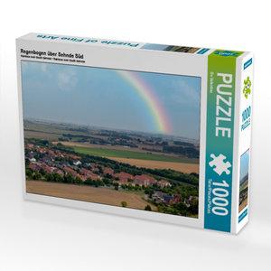 Regenbogen über Sehnde Süd 1000 Teile Puzzle quer
