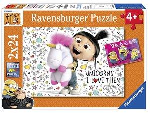 Ravensburger 078110 - Agnes und die Minions, 2x24 Teile, Kinderp