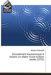 Ecoulement transsonique à travers un stator d\'une turbine axial