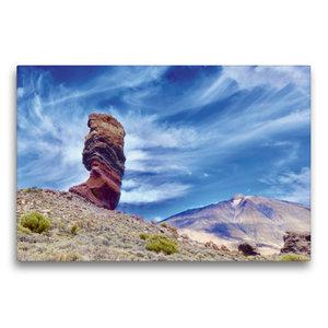 Premium Textil-Leinwand 75 cm x 50 cm quer Bizarre Felsen auf Te