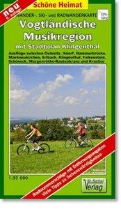 Vogtländische Musikregion 1 : 35 000. Wander-, Ski- und Radwande