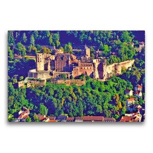 Premium Textil-Leinwand 75 cm x 50 cm quer Heiligenbergturm: Bli