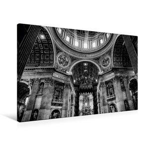 Premium Textil-Leinwand 90 cm x 60 cm quer Petersdom im Vatikan