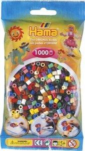 Hama 207-67 - Perlen Mix, 1000 Stück, 22 Farben, Farbmix