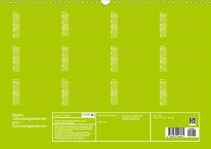 Bastel-Geburtstagskalender grün / Geburtstagskalender