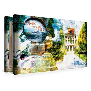 Premium Textil-Leinwand 75 cm x 50 cm quer home_sweet_home_1_1
