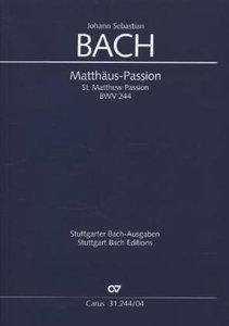 Matthäus-Passion, Klavierauszug