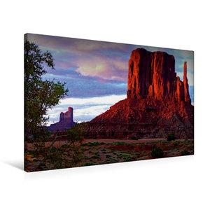 Premium Textil-Leinwand 90 cm x 60 cm quer Monument Valley