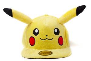 Baseball Cap, Pokemon-Pikachu Logo mit Ohren, Snapback Cap, Kapp