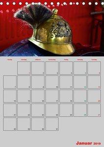 Alte Feuerwehrhelme - Terminplaner (Tischkalender 2019 DIN A5 ho