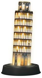 Ravensburger 125159 Puzzle 3D Schiefer Turm von Pisa bei Nacht
