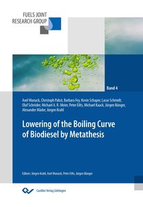 Lowering of the boiling curve of biodiesel by metathesis