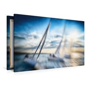 Premium Textil-Leinwand 120 cm x 80 cm quer Hart an der Kreuz