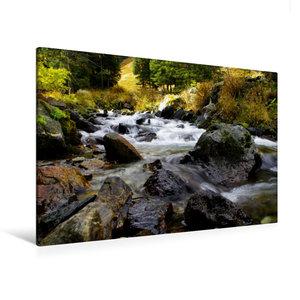 Premium Textil-Leinwand 120 cm x 80 cm quer Am rauschenden Bach