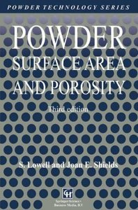 Powder Surface Area and Porosity