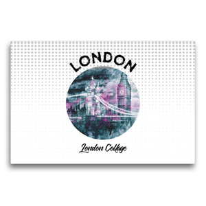Premium Textil-Leinwand 75 cm x 50 cm quer Graphic-Art LONDON Lo