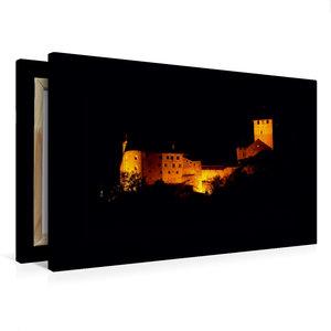 Premium Textil-Leinwand 75 cm x 50 cm quer Schloss Tirol bei Nac