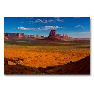 Premium Textil-Leinwand 90 cm x 60 cm quer Monument Valley, Ariz