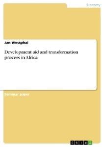 Development aid and transformation process in Africa