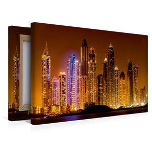Premium Textil-Leinwand 45 cm x 30 cm quer Dubai Marina bei Nach
