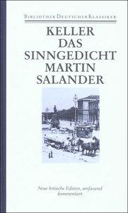 Sieben Legenden. Das Sinngedicht. Martin Salander