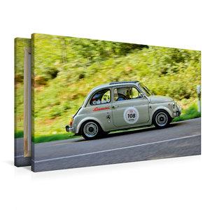 Premium Textil-Leinwand 90 cm x 60 cm quer Fiat Giannini 500 Tri