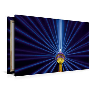 Premium Textil-Leinwand 120 cm x 80 cm quer Leuchtender Komet -