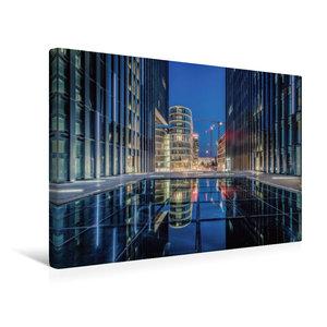 Premium Textil-Leinwand 45 cm x 30 cm quer Medienhafen Düsseldor