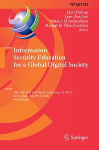 Information Security Education for a Global Digital Society