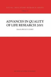 Advances in Quality of Life Research 2001