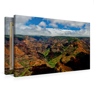 Premium Textil-Leinwand 75 cm x 50 cm quer Waimea Canyon