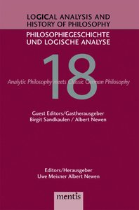 Logical Analysis and History of Philosophy / Philosophiegeschich