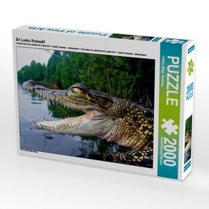 Sri Lanka Krokodil 2000 Teile Puzzle quer